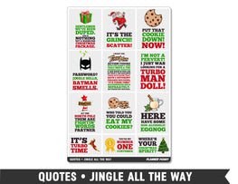Quotes • Jingle All The Way Full Box Planner Stickers