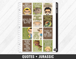 Quotes • Jurassic Full Box Planner Stickers - Planner Penny