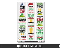 Quotes • More Elf Full Box Planner Stickers - Planner Penny