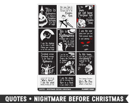 Quotes • Nightmare Before Christmas Full Box Planner Stickers - Planner Penny