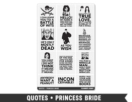 Quotes • Princess Bride Full Box Planner Stickers