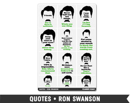 Quotes • Ron Swanson Full Box Planner Stickers - Planner Penny