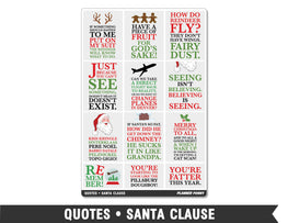 Quotes • Santa Clause Full Box Planner Stickers - Planner Penny