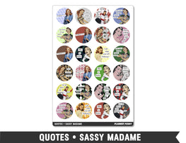 Quotes • Sassy Madame Planner Stickers