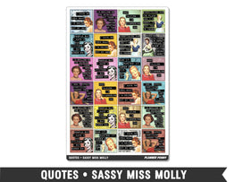 Quotes • Sassy Miss Molly Planner Stickers