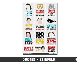 Quotes • Seinfeld Full Box Planner Stickers - Planner Penny