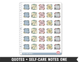 Quotes • Self-Care Notes 1 Planner Stickers