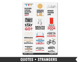 Quotes • Strangers Full Box Planner Stickers - Planner Penny