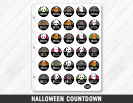 Halloween Countdown Planner Stickers - Planner Penny