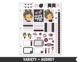 Variety • Audrey Weekly Spread Planner Stickers