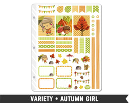 Variety • Autumn Girl Weekly Spread Planner Stickers - Planner Penny