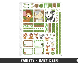 Variety • Baby Deer Weekly Spread Planner Stickers