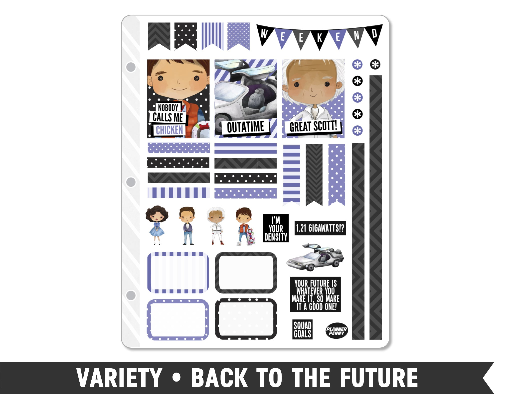 Variety • Back to the Future Weekly Spread Planner Stickers