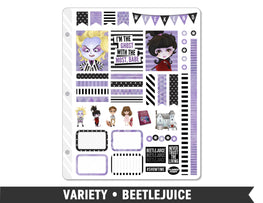 Variety • Beetlejuice Weekly Spread Planner Stickers