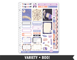 Variety • Boo! Weekly Spread Planner Stickers