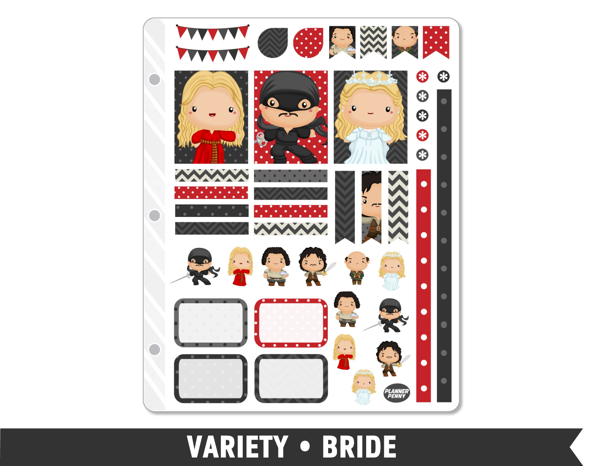 Variety • Bride Weekly Spread Planner Stickers - Planner Penny