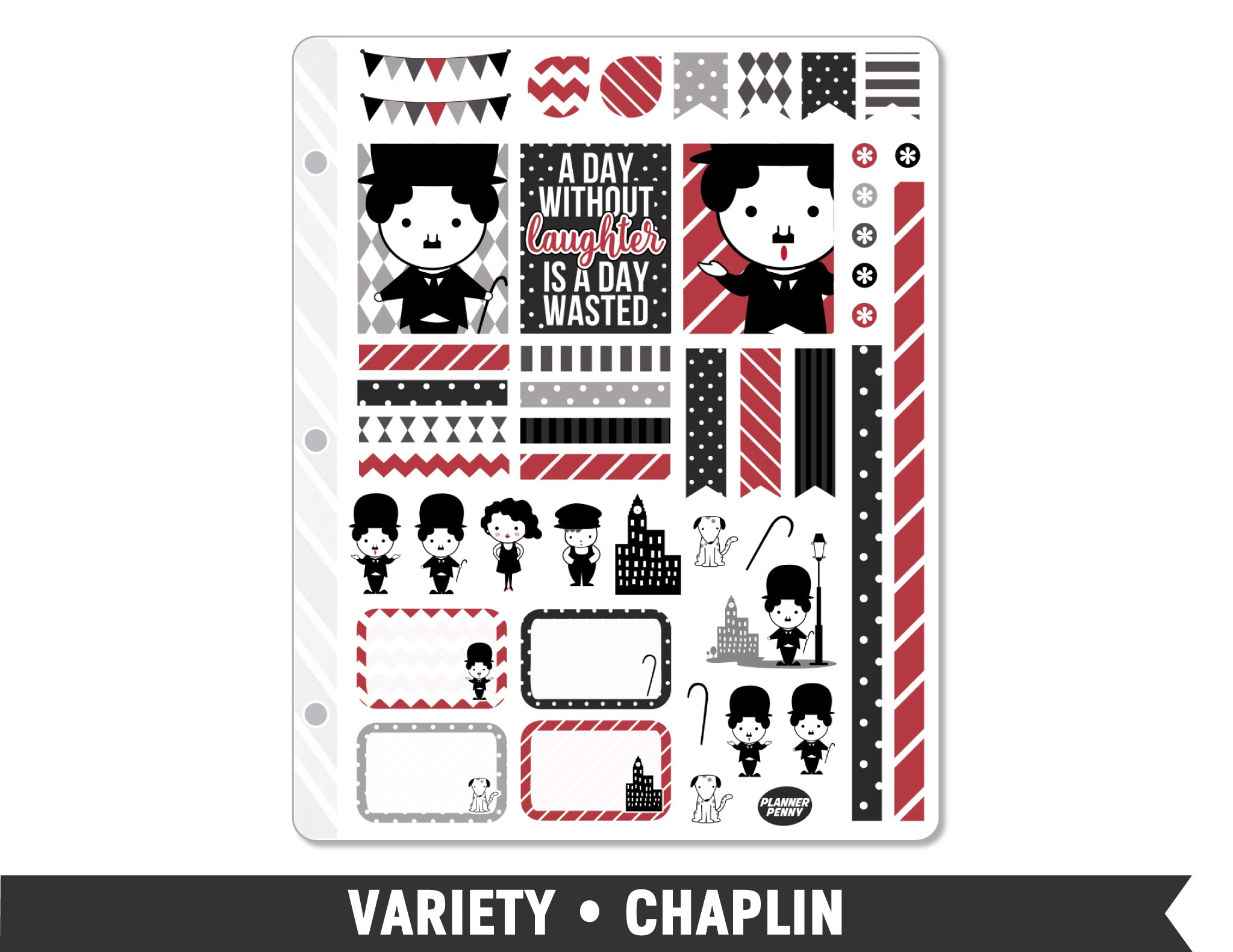 Variety • Chaplin Weekly Spread Planner Stickers