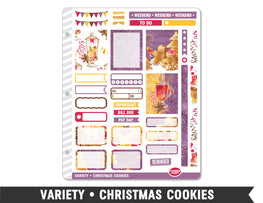 Variety • Christmas Cookies Weekly Spread Planner Stickers