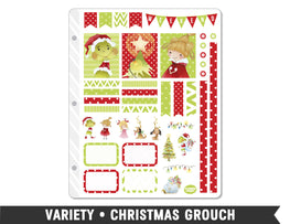 Variety • Christmas Grouch Weekly Spread Planner Stickers - Planner Penny