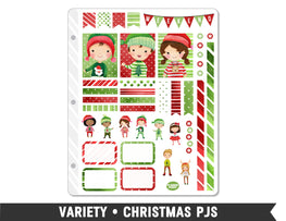 Variety • Christmas PJs Weekly Spread Planner Stickers
