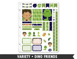 Variety • Dino Weekly Spread Planner Stickers