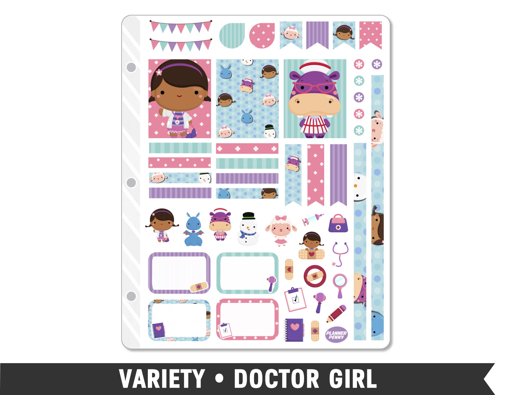 Variety • Doctor Girl Weekly Spread Planner Stickers