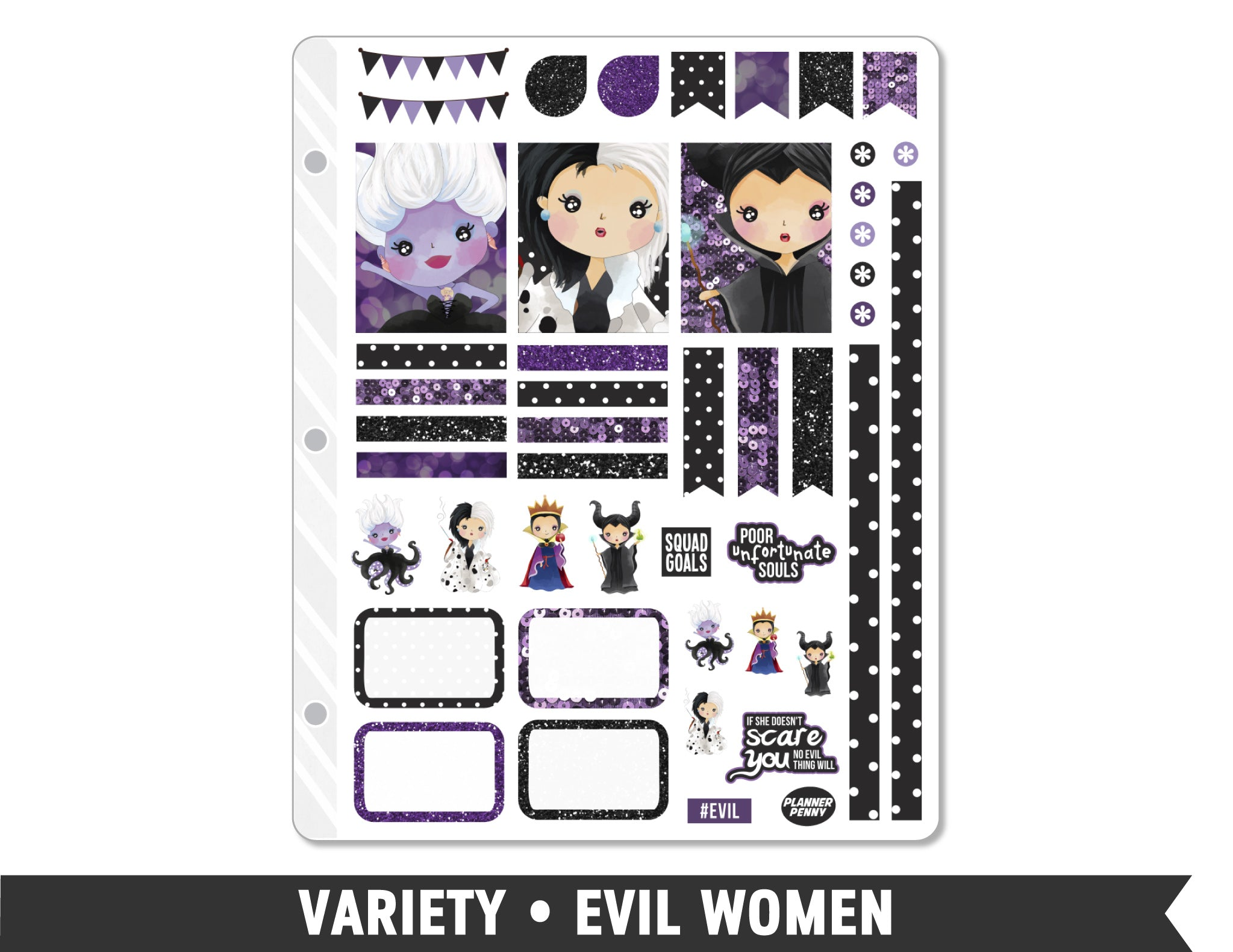 Variety • Evil Women Weekly Spread Planner Stickers