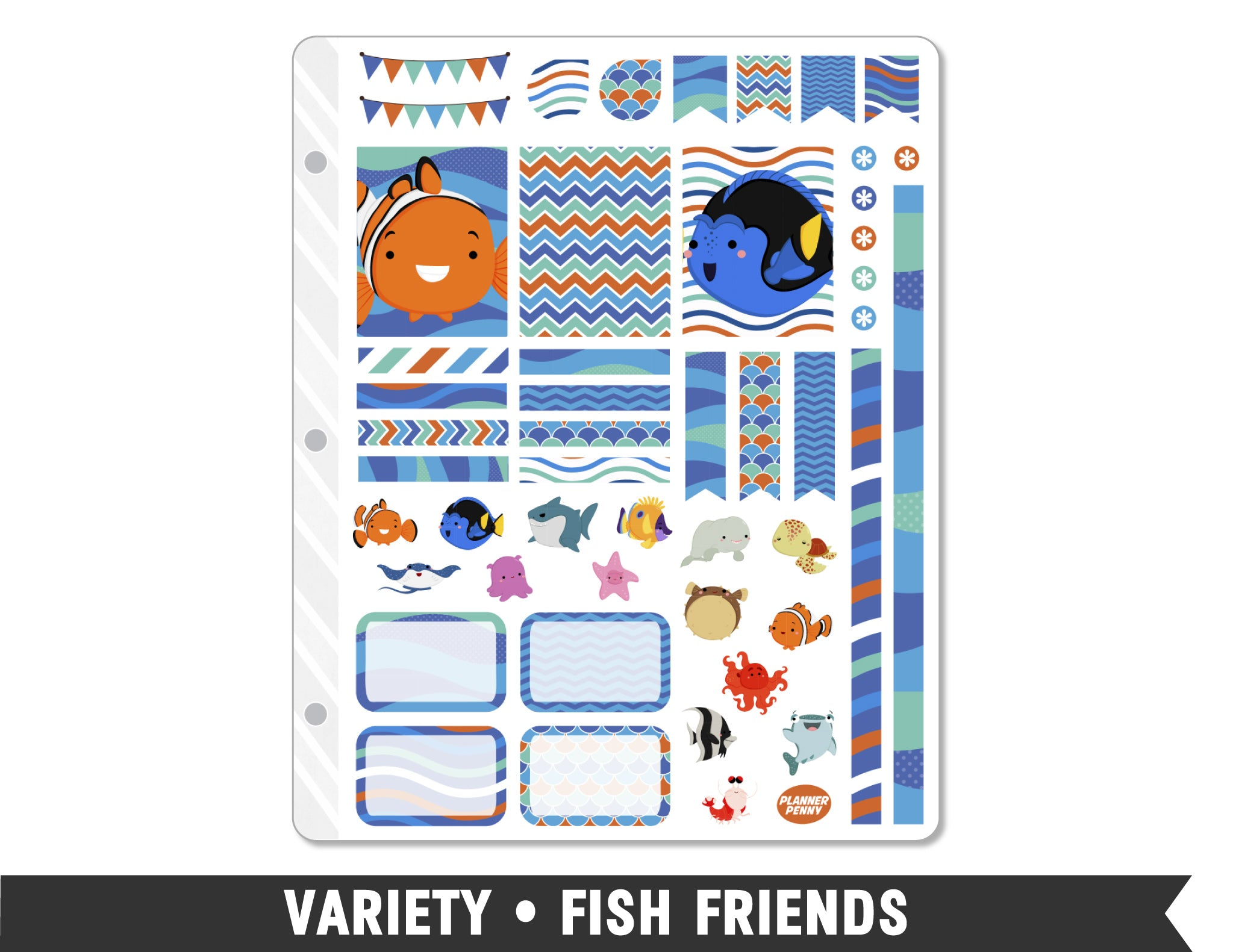 Variety • Fish Friends Weekly Spread Planner Stickers