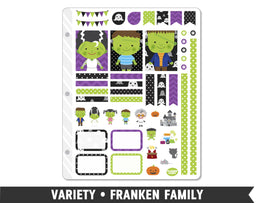 Variety • Franken Family Weekly Spread Planner Stickers