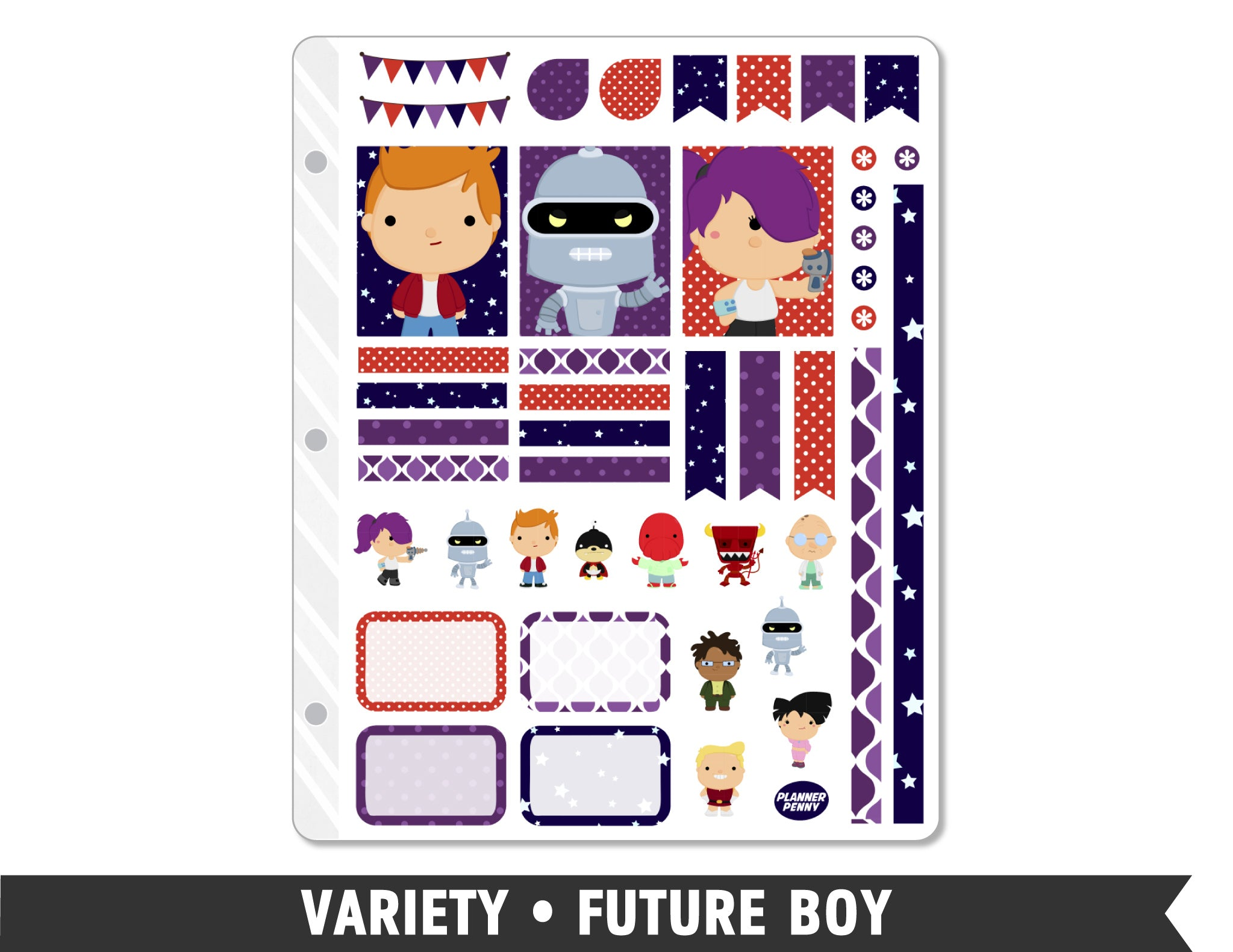 Variety • Future Boy Weekly Spread Planner Stickers