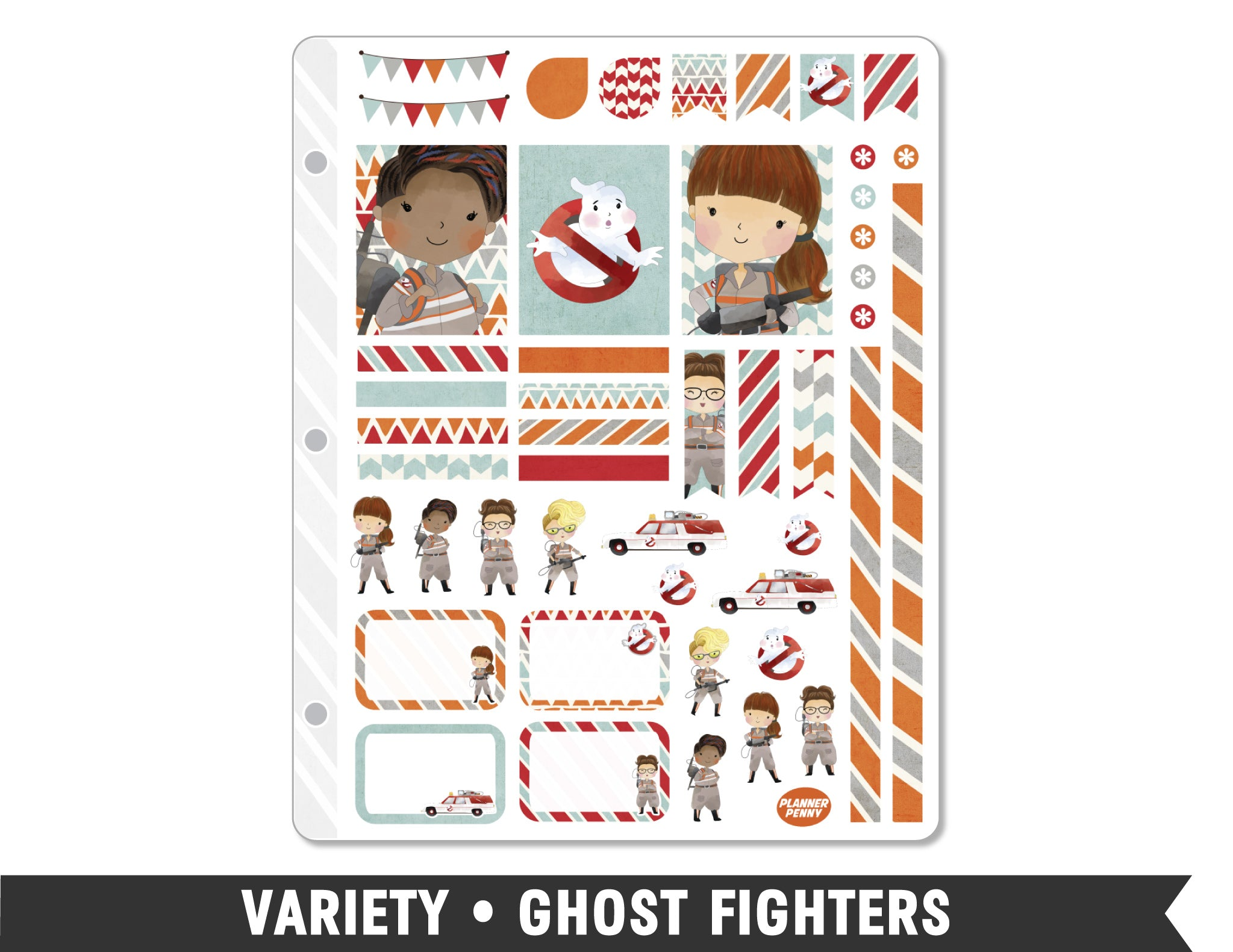 Variety • Ghost Fighters Weekly Spread Planner Stickers - Planner Penny