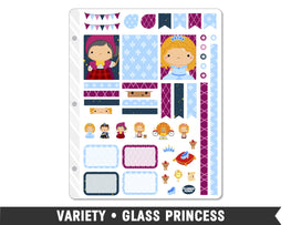 Variety • Glass Princess Weekly Spread Planner Stickers
