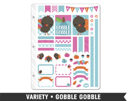Variety • Gobble Gobble Weekly Spread Planner Stickers