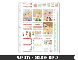 Variety • Golden Girls Weekly Spread Planner Stickers - Planner Penny