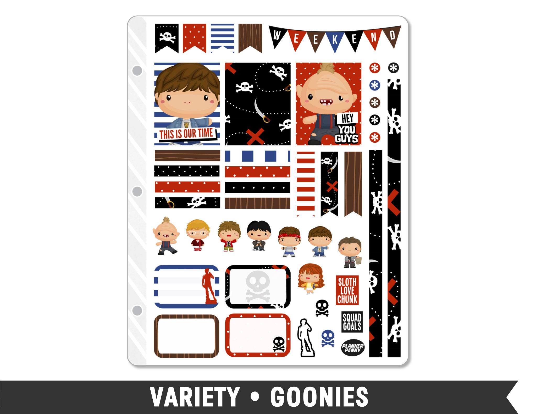 Variety • Goonies Weekly Spread Planner Stickers