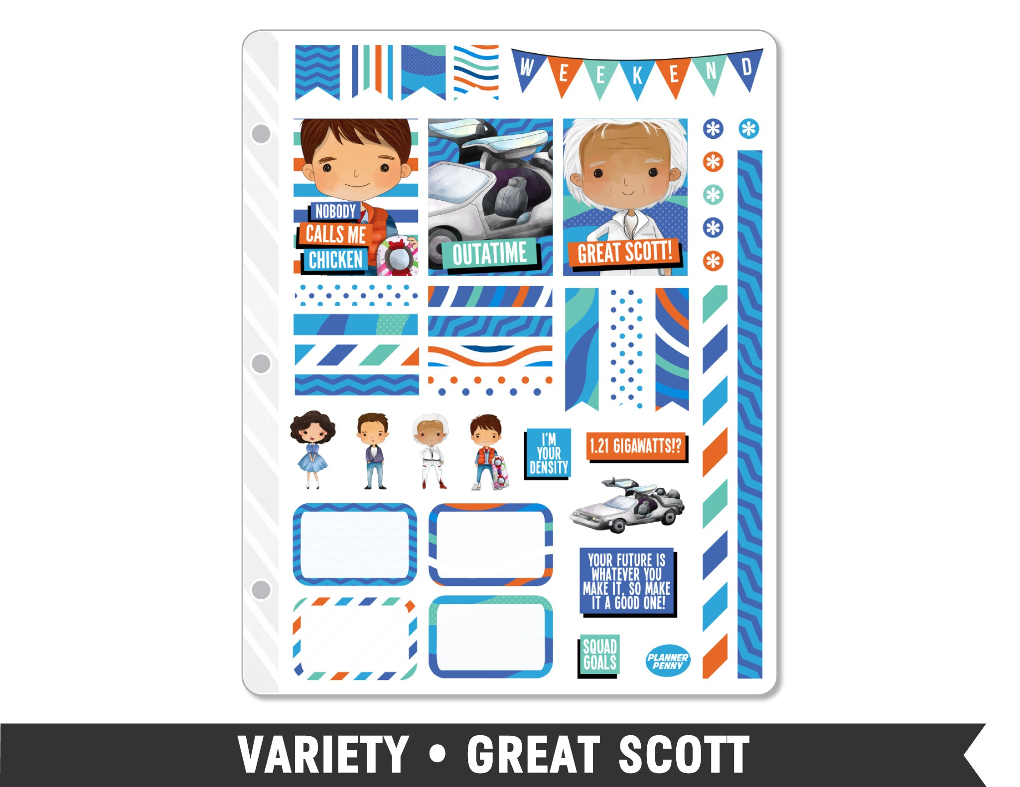 Variety • Great Scott Weekly Spread Planner Stickers - Planner Penny
