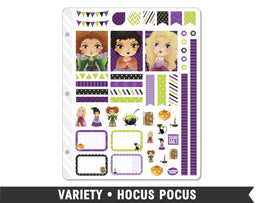 Variety • Hocus Pocus Weekly Spread Planner Stickers - Planner Penny