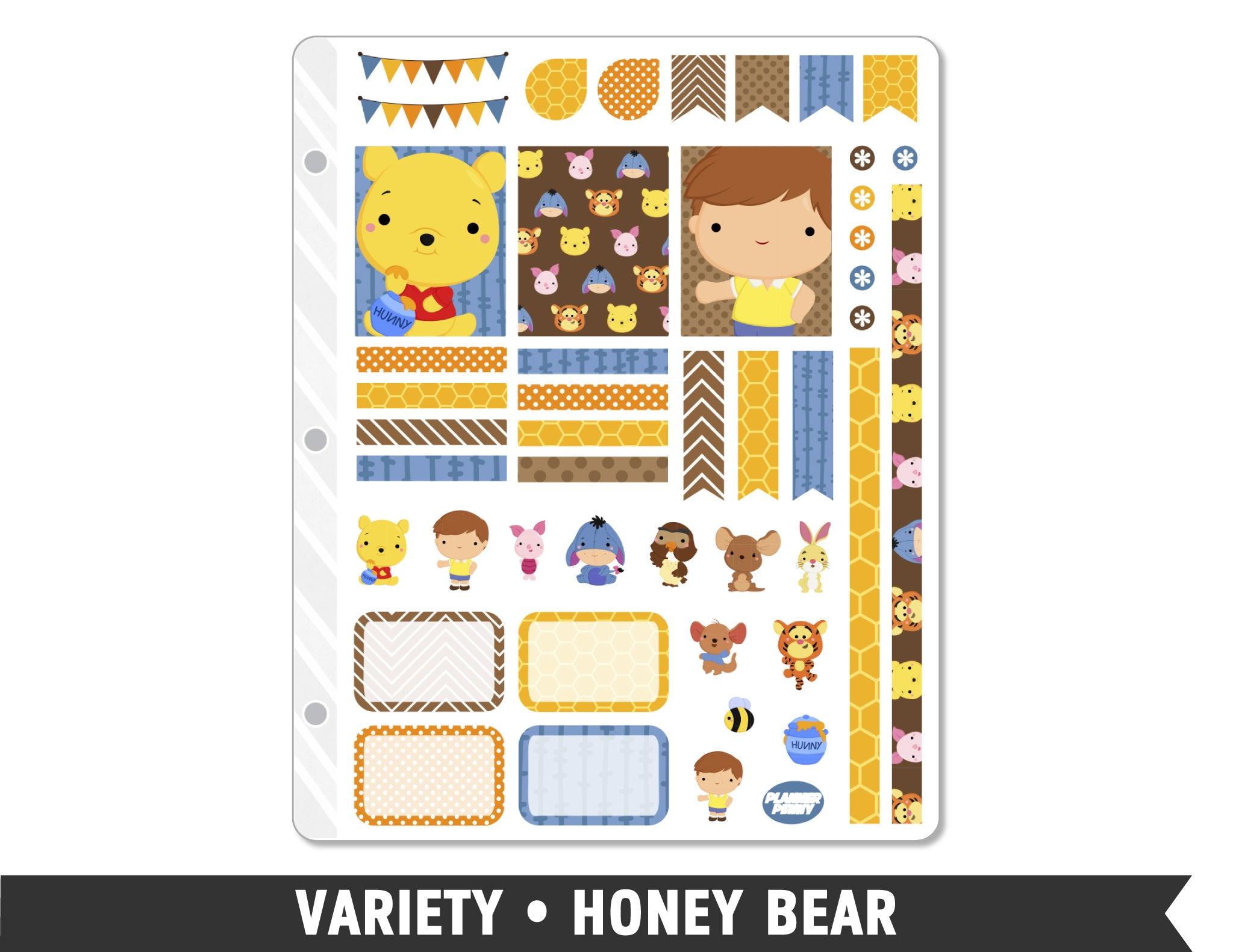 Variety • Honey Bear Weekly Spread Planner Stickers - Planner Penny