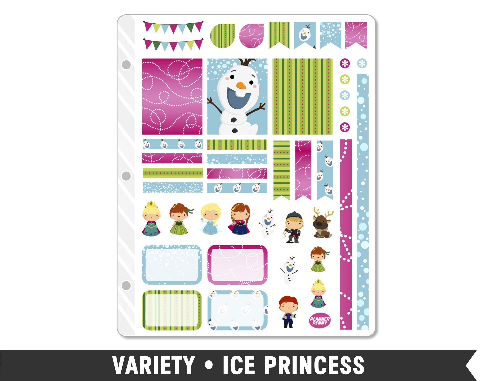 Variety • Ice Princess Weekly Spread Planner Stickers - Planner Penny