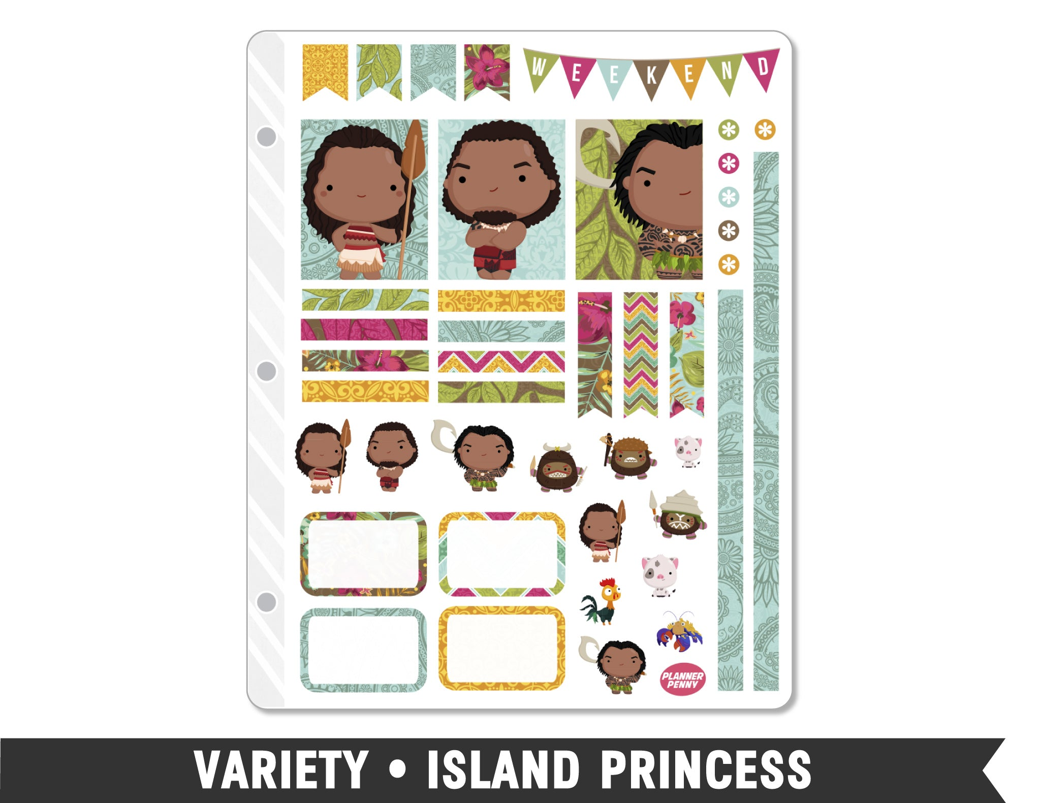 Variety • Island Princess Weekly Spread Planner Stickers - Planner Penny