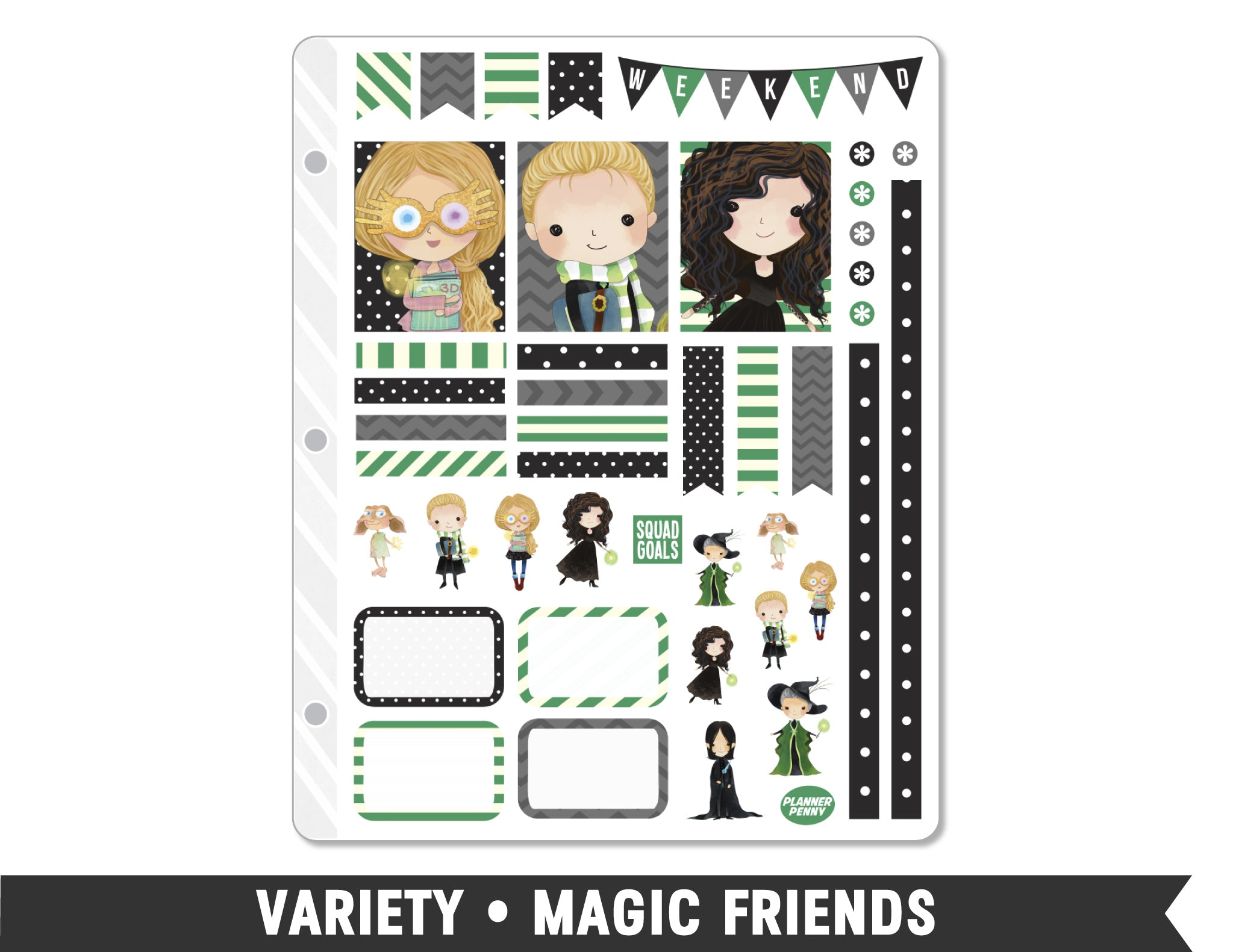 Variety • Magic Friends Weekly Spread Planner Stickers - Planner Penny