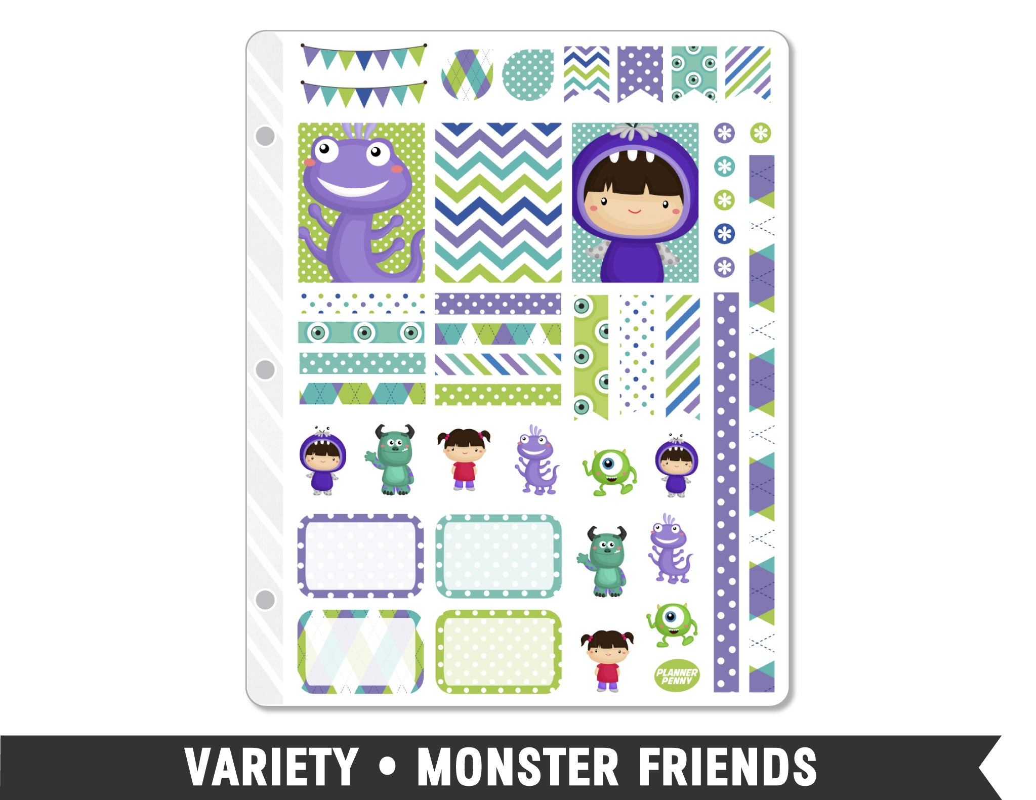 Variety • Monster Friends Weekly Spread Planner Stickers