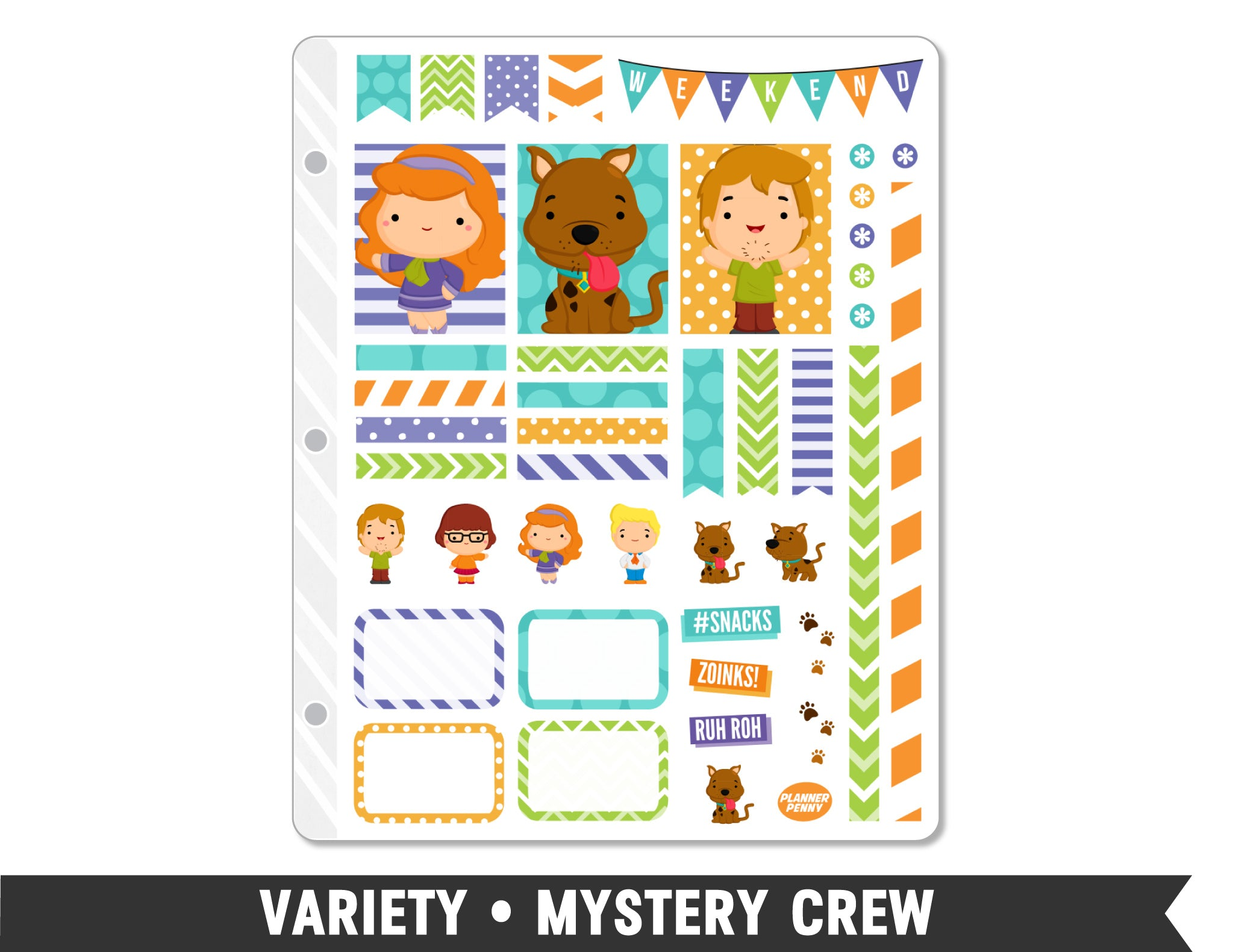 Variety • Mystery Crew Weekly Spread Planner Stickers