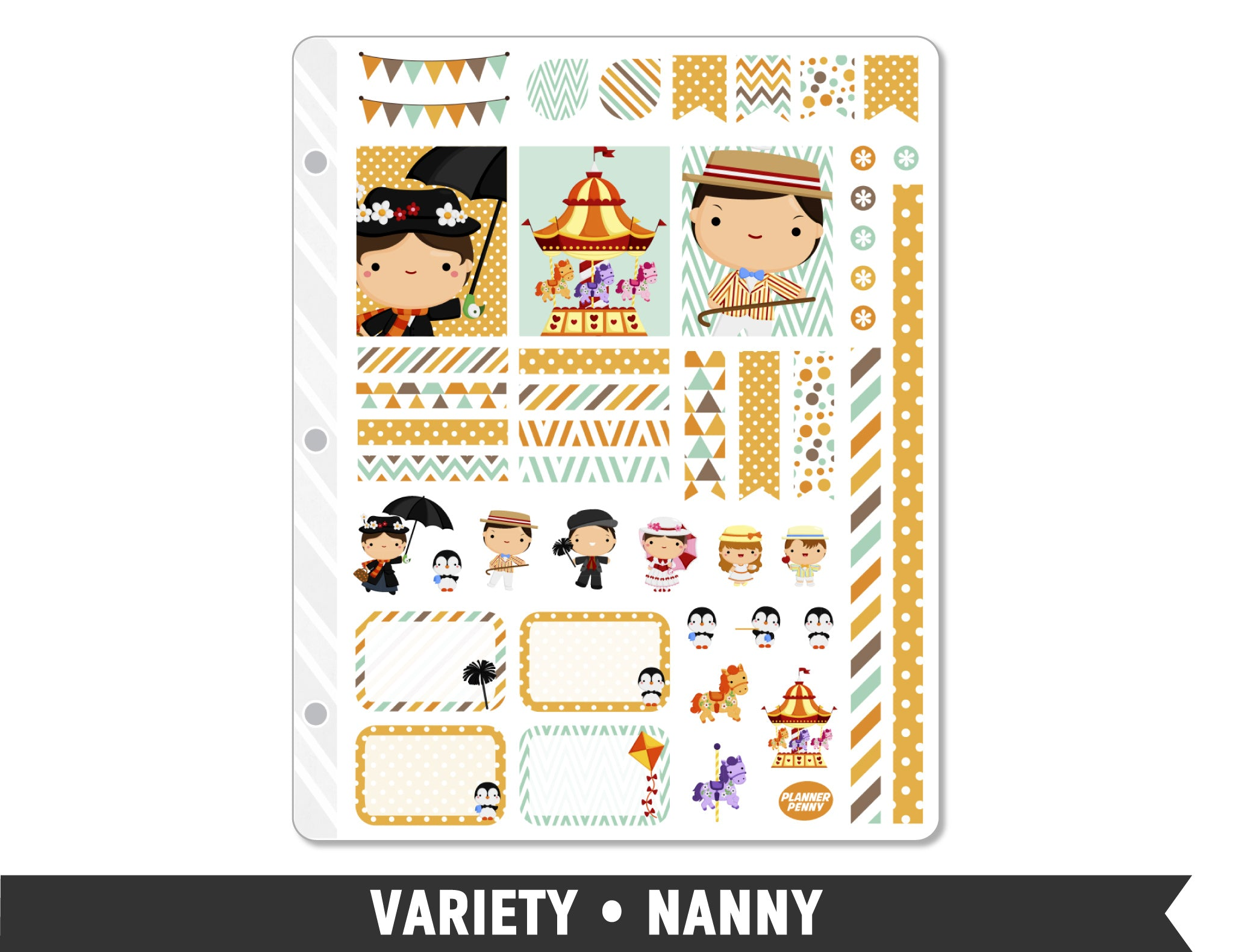 Variety • Nanny Weekly Spread Planner Stickers - Planner Penny