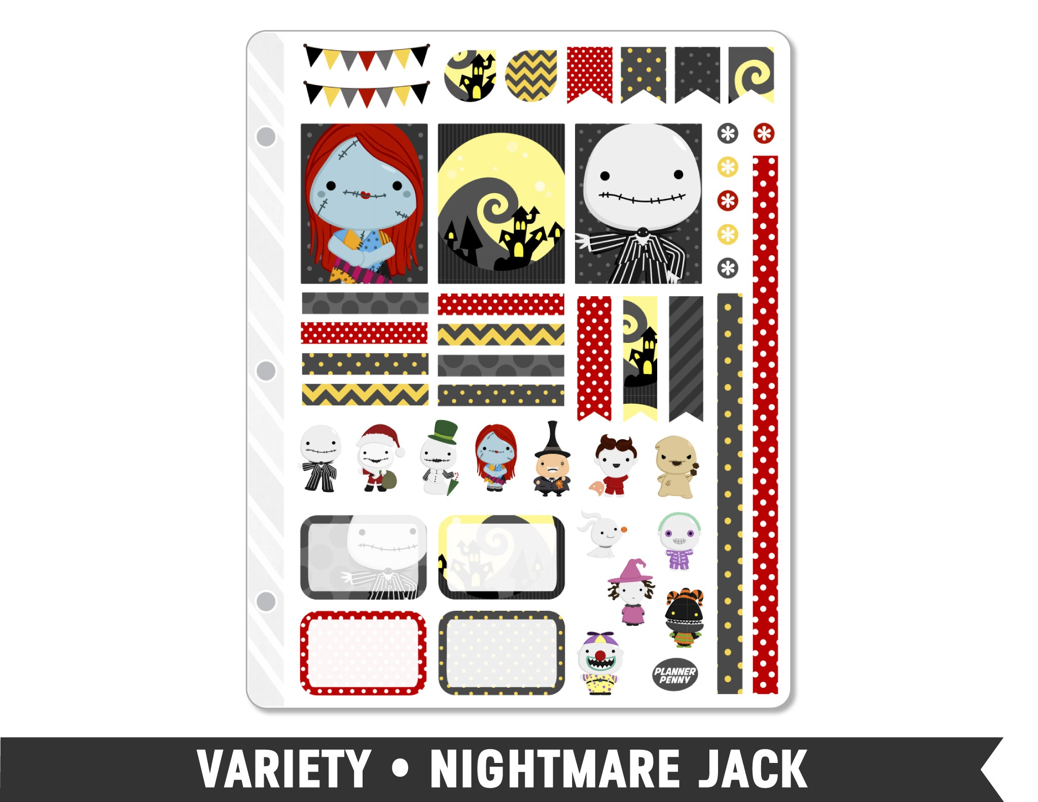 Variety • Nightmare Jack Weekly Spread Planner Stickers