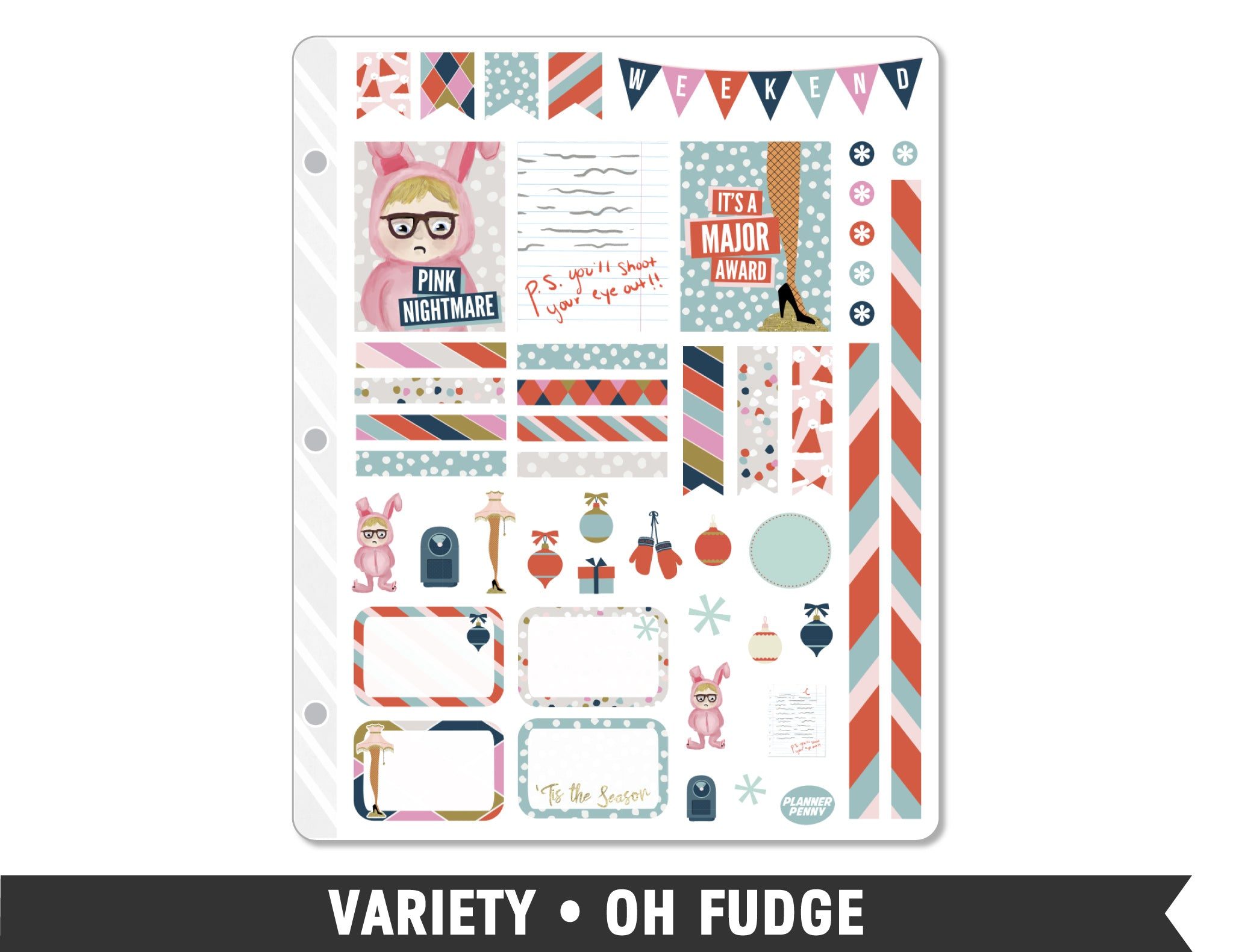 Variety • Oh Fudge Weekly Spread Planner Stickers
