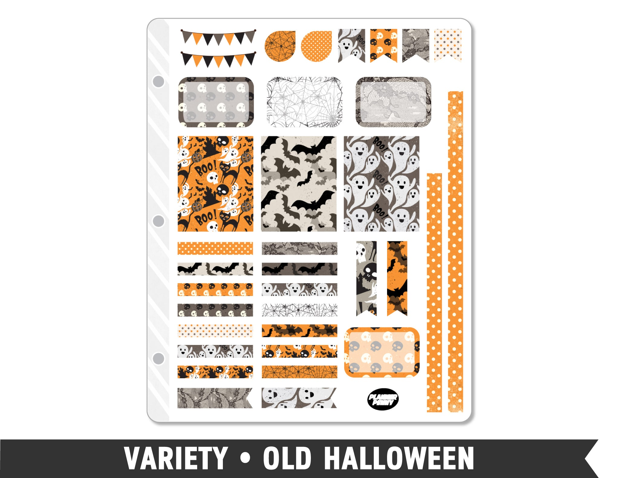 Variety • Old Halloween Weekly Spread Planner Stickers - Planner Penny