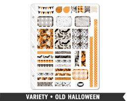 Variety • Old Halloween Weekly Spread Planner Stickers