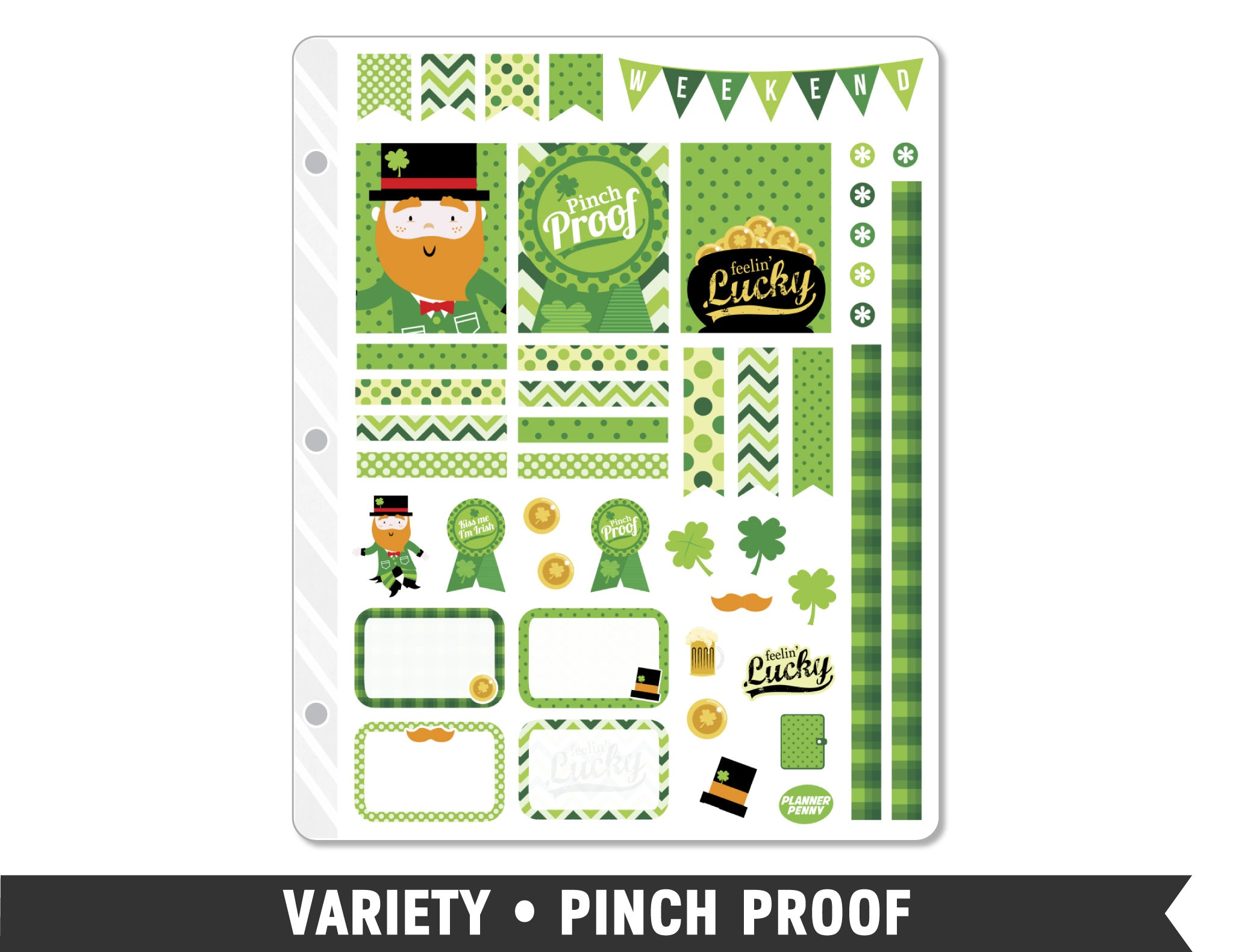 Variety • Pinch Proof Weekly Spread Planner Stickers - Planner Penny