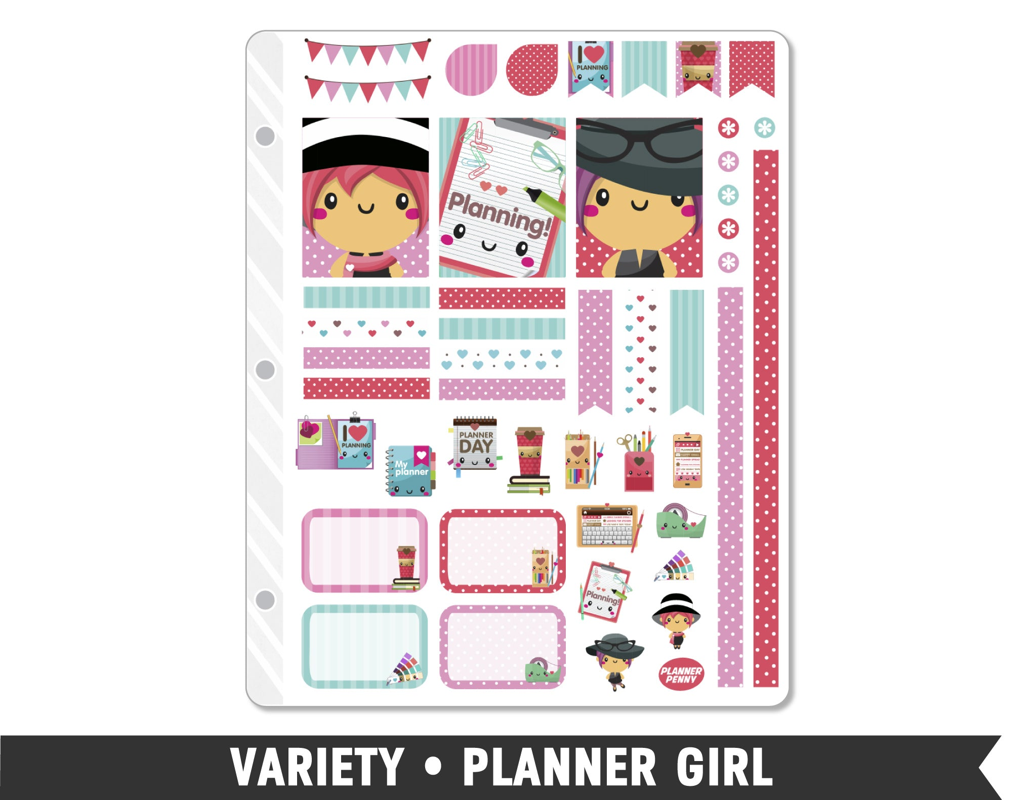 Variety • Planner Girl Weekly Spread Planner Stickers